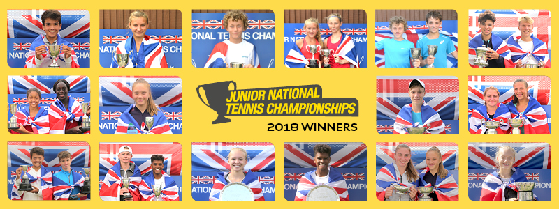 Junior National Tennis Championships - 2018 Roll of Honour