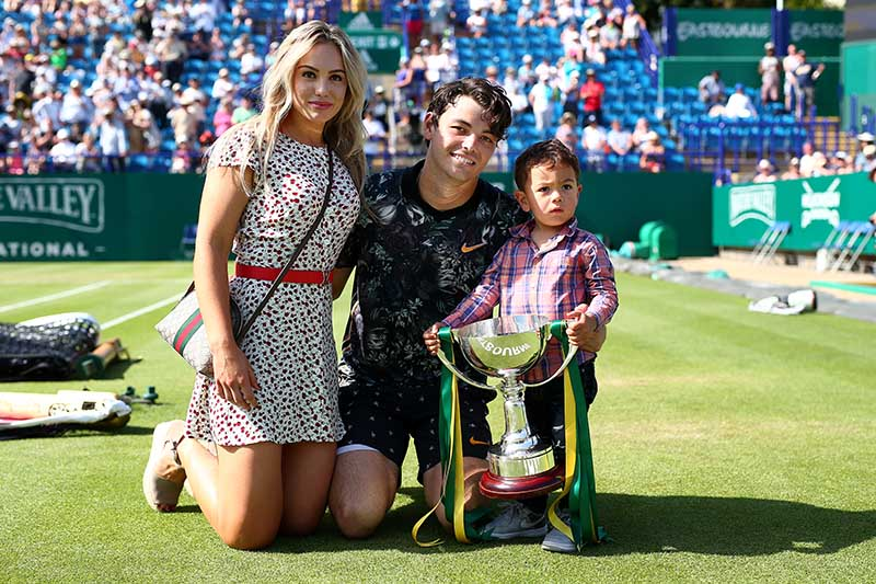 Trophy time with Taylor Fritz and his family