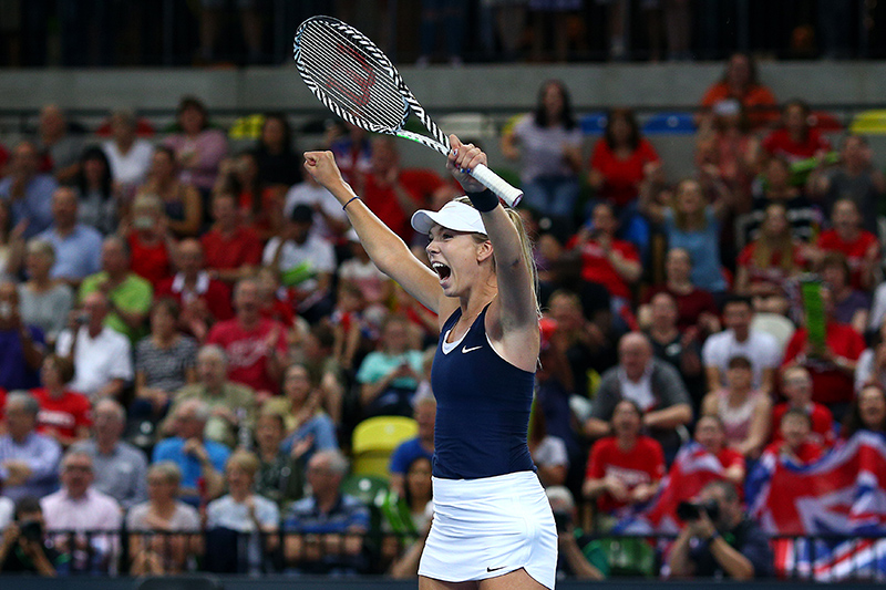 Katie Boulter secures the victory