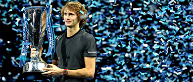 Zverev at the Nitto ATP Finals