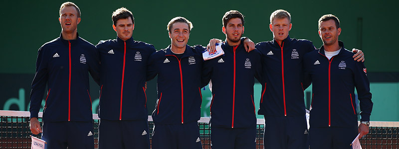 The Great Britain squad during the opening ceremony in Marbella