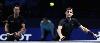 Jamie Murray and Bruno Soares play in the Nitto ATP Finals